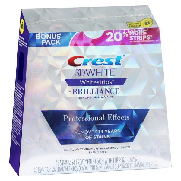 Bieliace pásiky Crest 3D White BRILLIANCE Professional Effects