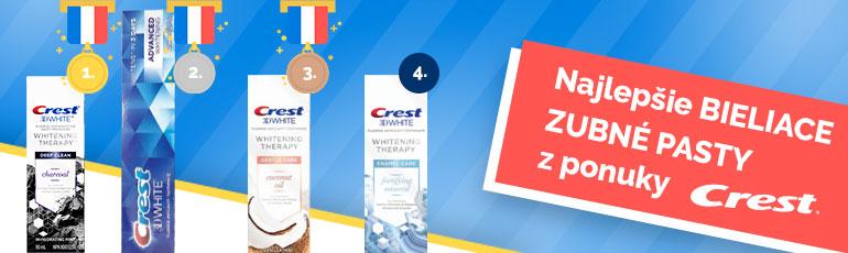 Tri najlepšie bieliace zubné pasty Crest z ponuky.