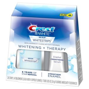 bieliace pásiky Crest 3D White THERAPY so sérom na ochranu skloviny
